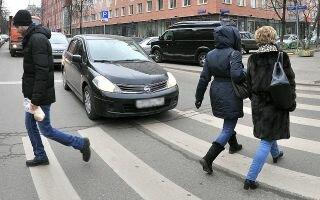 Штраф за непропуск пешеходов на зебре