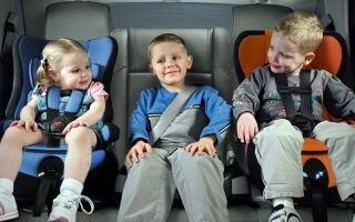 Детские удерживающие устройства в автомобиле