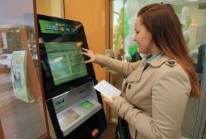 Оплата через терминал Сбербанка